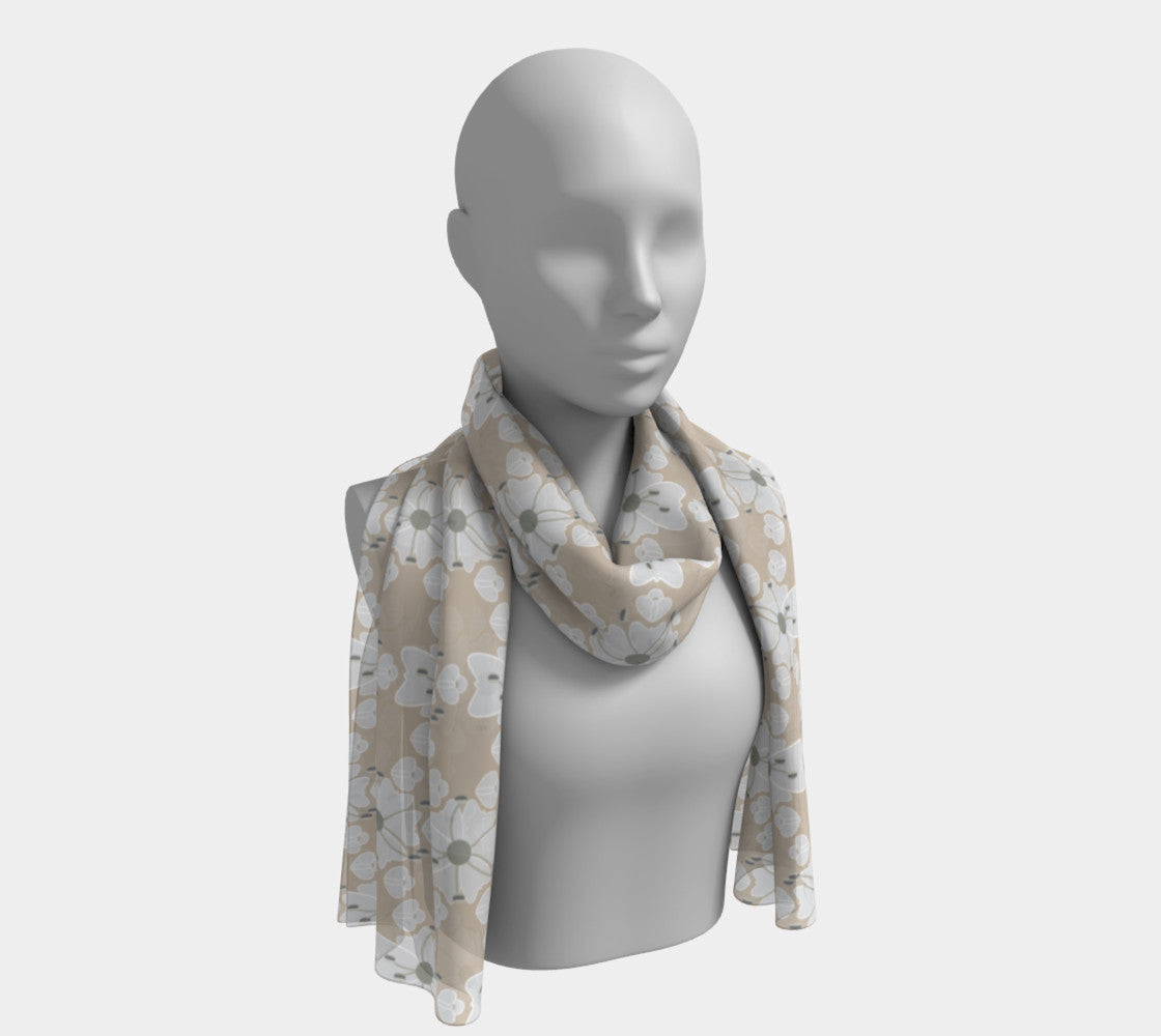 Cow Parsnip Flowers on Taupe Scarf