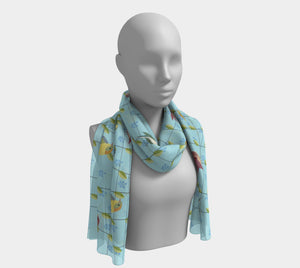 Colorful Birds Scarf