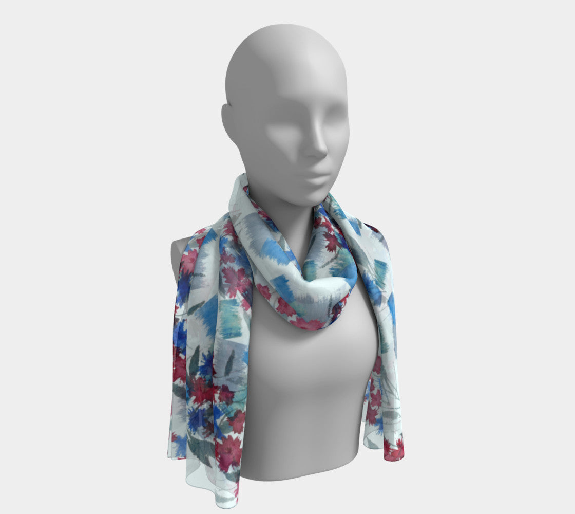 picture of Snoring Dog Studio Bachelor Buttons Scarf