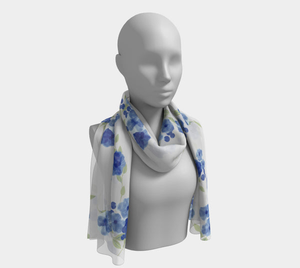 Blue Blossoms Scarf