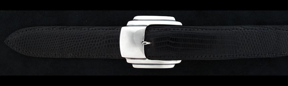 "#0133 JETSON Buckle Set for 1"" belts priced from $195.00 for the single buckle to $490.00 for the 4 pc set. Extra tips are available for $105.00 - Santa Fe Buckle Company"