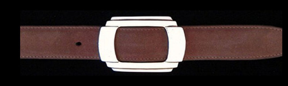 "#0146 ART DECO Single Buckle for 1"" belts $245.00 - Santa Fe Buckle Company"