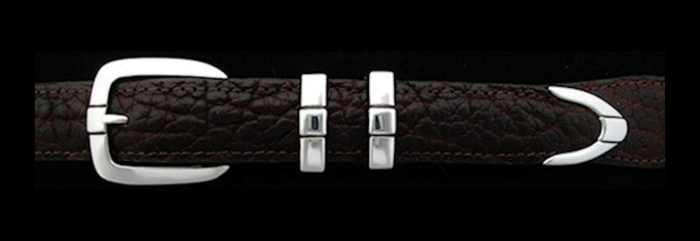 "#0175 PARALLEL DOUBLE KEEPER Buckle Set for 1"" belts from $100.00 for the single buckle to $275.00 for the 4 pc set. Extra tips are available for $70.00 - Santa Fe Buckle Company"