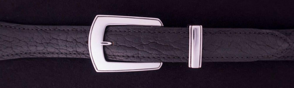 "#0187 ELEGANT Buckle Set for 1"" belts from $160.00 for the single buckle to $395.00 for the 4 pc set. Extra tips are available for $85.00 - Santa Fe Buckle Company"
