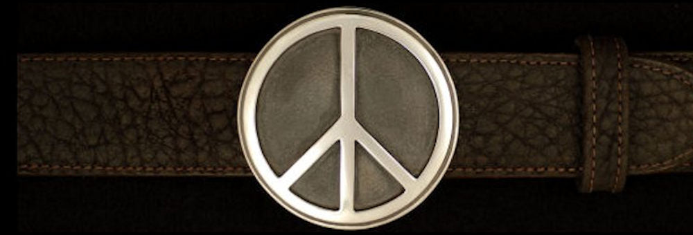"#0188 SOLID PEACE BUCKLE Single Piece for 1 1/2"" belts $395.00 - Santa Fe Buckle Company"
