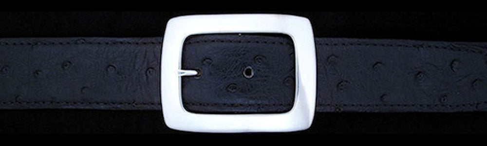 "#0192 CLASSIC GARRISON Single Buckle for 1 1/4"" belts  $290.00 - Santa Fe Buckle Company"