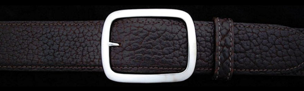 "#0201 SKINNY GARRISON Single Buckle for 1 1/2"" belts $240.00 - Santa Fe Buckle Company"
