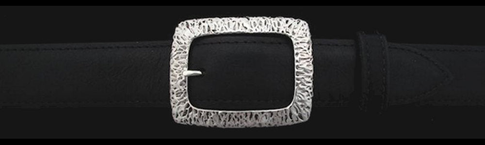 "#0492 RIVER TEXTURED CLASSIC GARRISON Single Buckle for 1 1/4"" belts $295 - Santa Fe Buckle Company"