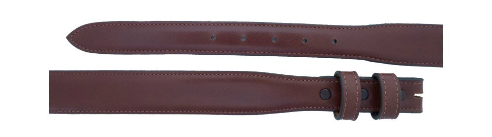 "1"" tapered to 1 ¼"" Almond Calf Belt $90 - Santa Fe Buckle Company"