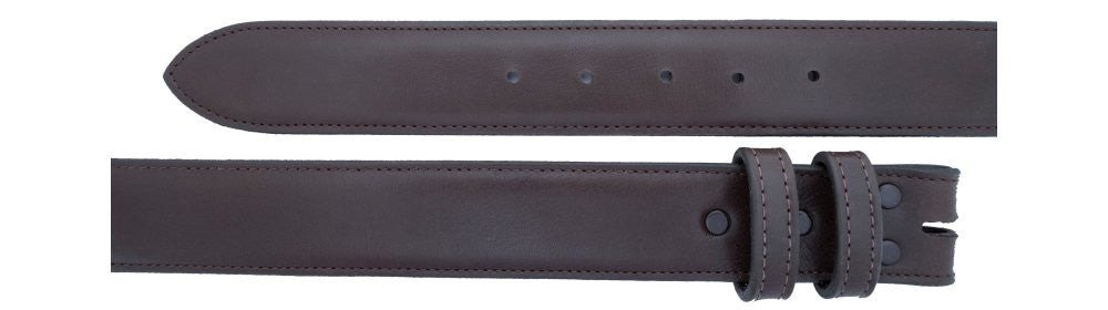 "1 1/2"" Straight Chocolate Calf Belt $90 - Santa Fe Buckle Company"