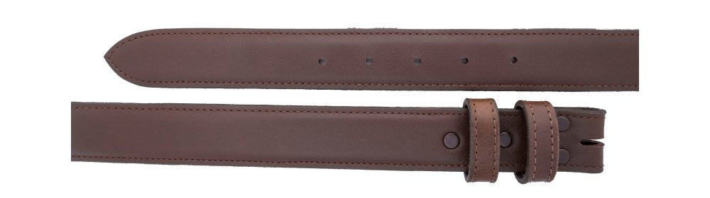 "1 1/4"" Straight Chocolate Calf Belt $90 - Santa Fe Buckle Company"