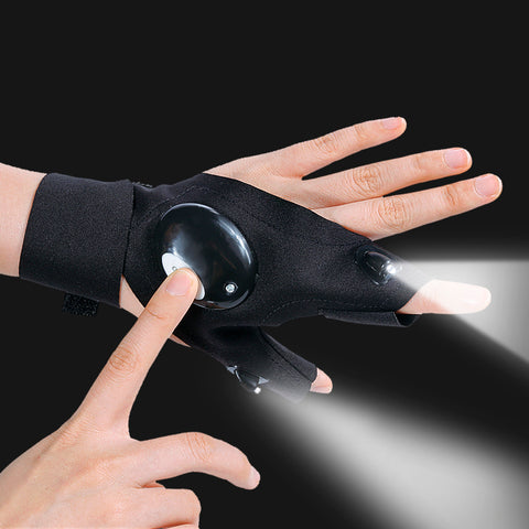 HandySmith Waterproof Work Gloves with LED Light