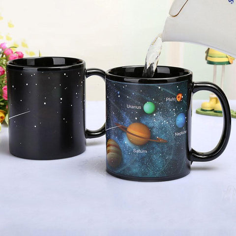 Instant Changing Solar System Coffee Mugs
