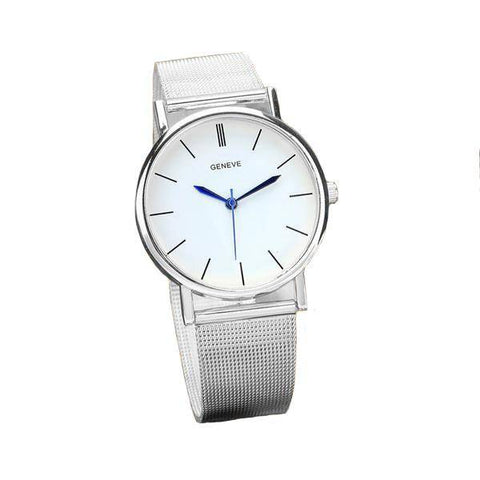 White Face Mesh Watch