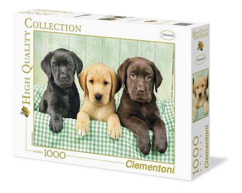 "Clementoni ""Three Labrador"" Puzzle (1000 Piece)"