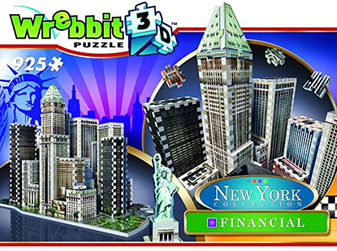 Wrebbit Puzz-3D New York City Collection, Financial District, N.Y.C. 3D Jigsaw Puzzle (925 Pieces)