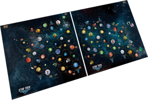 SETTLERS OF CATAN - STAR TREK - FED SPACE MAP SET