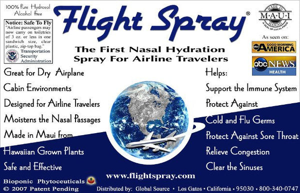 FLIGHT SPRAY: Prevent sickness while traveling