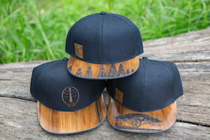 WEARABLE WOOD HATS & VISORS