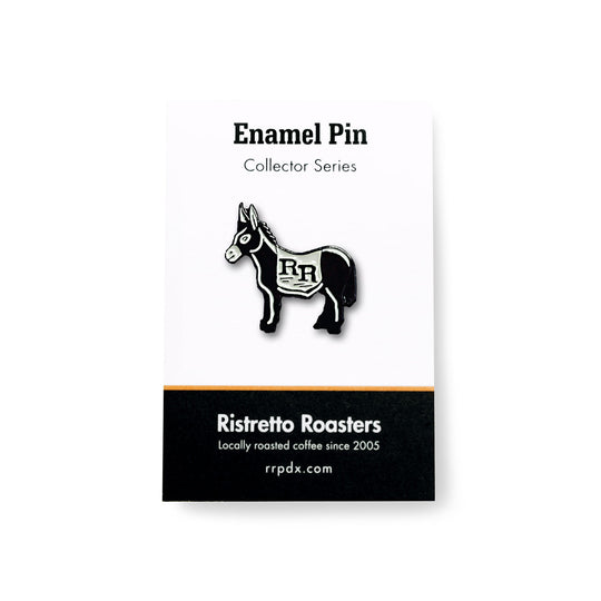 RR Burro Enamel Pin Ristretto Roasters Coffee