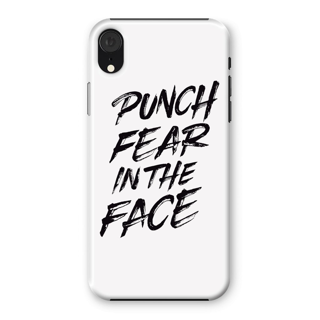 Punch Fear in the Face Black Phone Case Phone kite.ly iPhone XR Snap Gloss