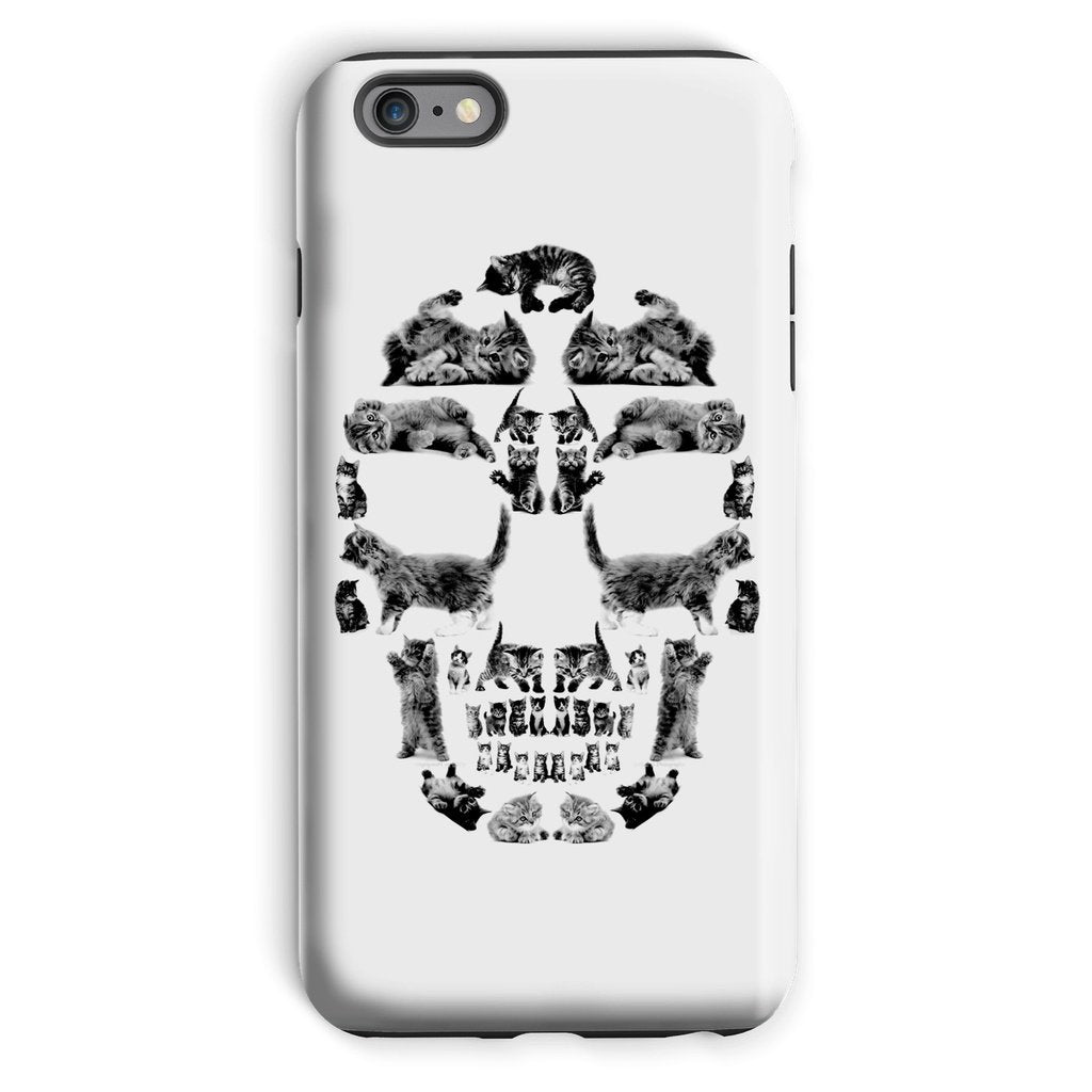 Kitten Skull Black Phone Case Phone kite.ly iPhone 6s Plus Tough Gloss