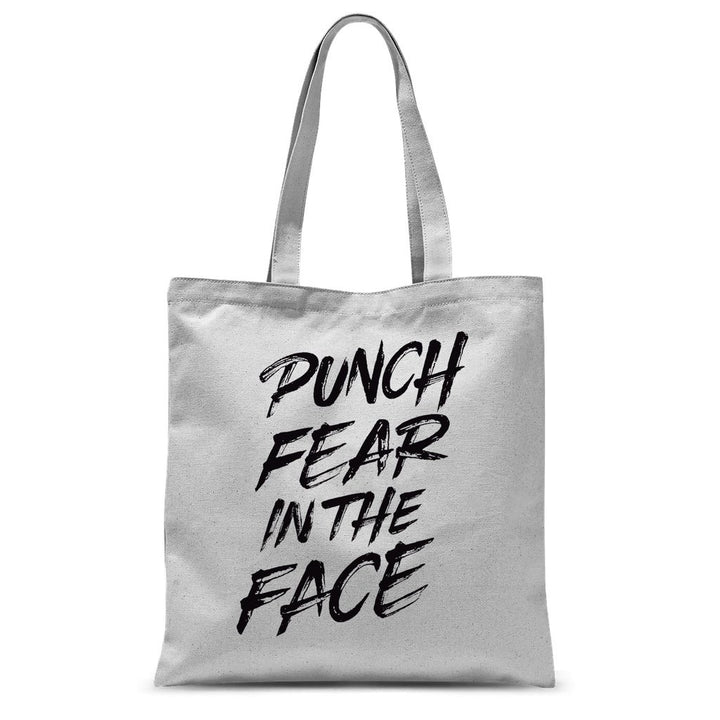 Punch Fear in the Face Black Tote Bag Bag kite.ly 15