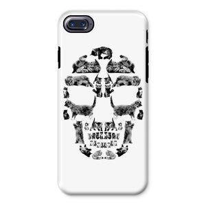 Kitten Skull Black Phone Case Phone kite.ly iPhone 8 Tough Gloss