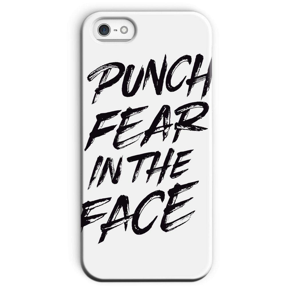 Punch Fear in the Face Black Phone Case Phone kite.ly iPhone 5/5s Snap Gloss