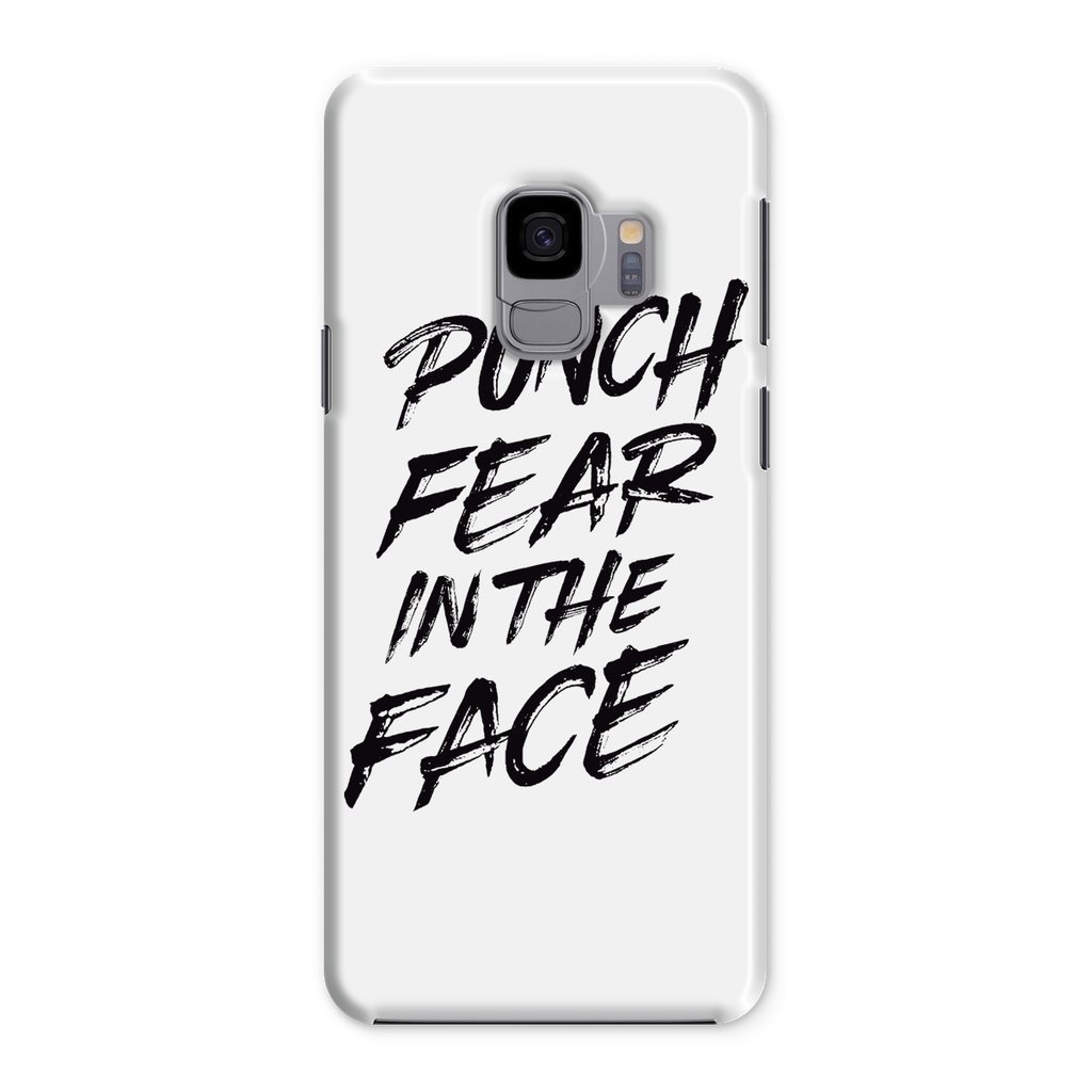 Punch Fear in the Face Black Phone Case Phone kite.ly Samsung Galaxy S9 Snap Gloss
