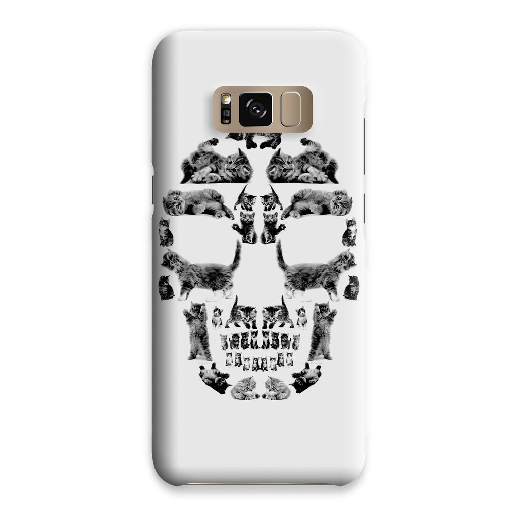 Kitten Skull Black Phone Case Phone kite.ly Samsung S8 Snap Gloss