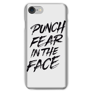 Punch Fear in the Face Black Phone Case Phone kite.ly iPhone 7 Snap Gloss