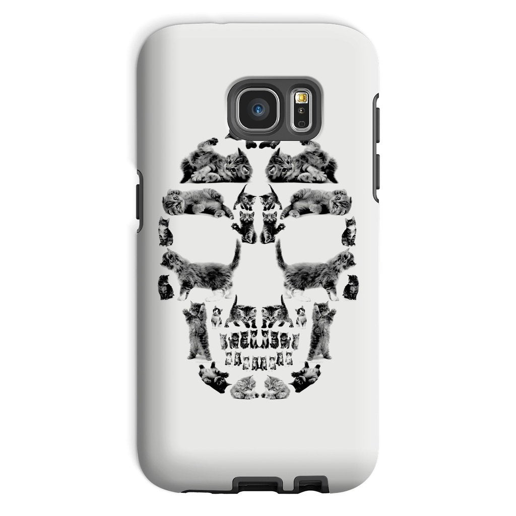 Kitten Skull Black Phone Case Phone kite.ly Galaxy S7 Tough Gloss