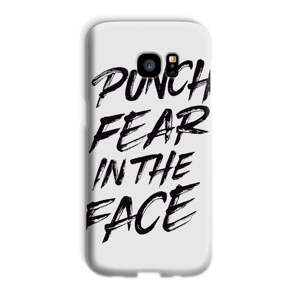 Punch Fear in the Face Black Phone Case Phone kite.ly Galaxy S7 Edge Snap Gloss