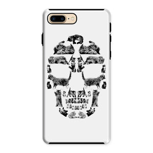 Kitten Skull Black Phone Case Phone kite.ly iPhone 8 Plus Tough Gloss