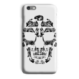 Kitten Skull Black Phone Case Phone kite.ly iPhone 6s Plus Snap Gloss