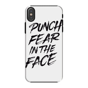 Punch Fear in the Face Black Phone Case Phone kite.ly iPhone X Tough Gloss