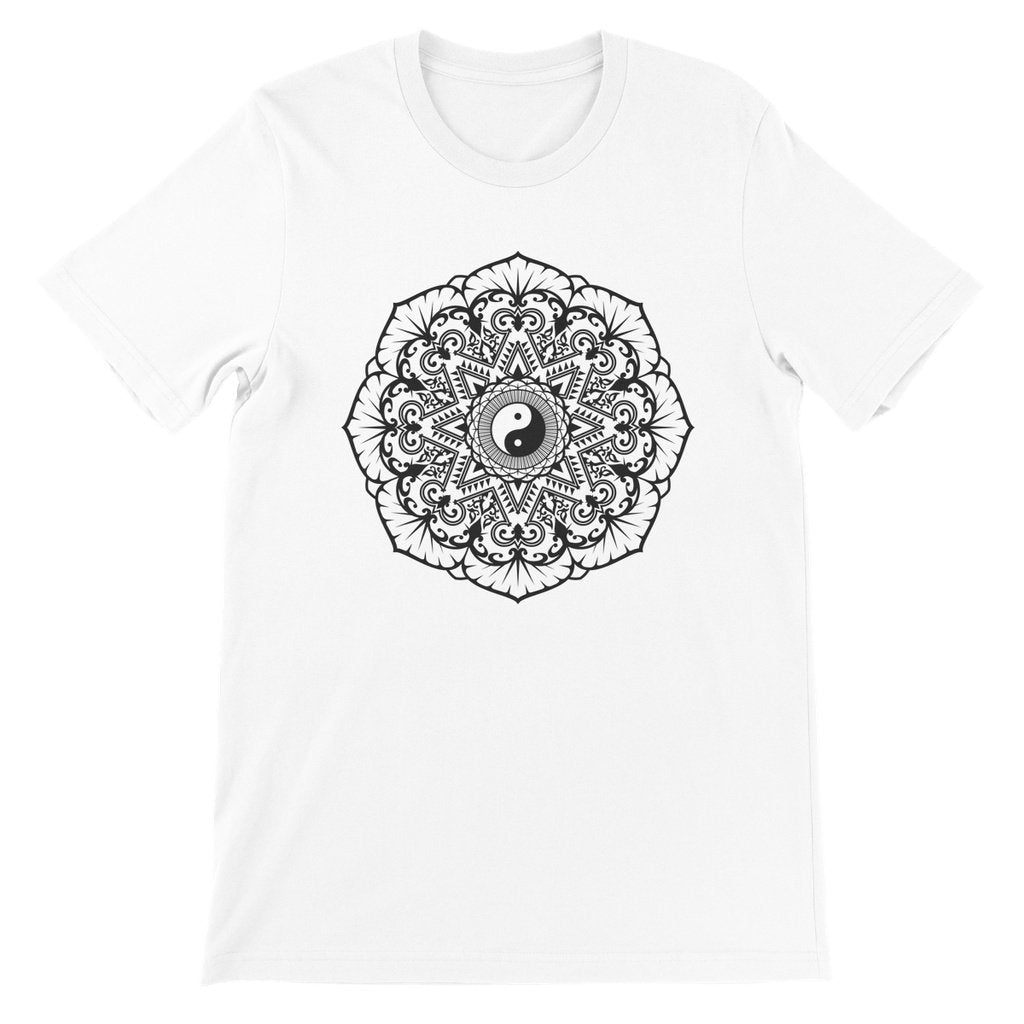 Mandala Unisex Short Sleeve T-Shirt T-Shirt kite.ly S White