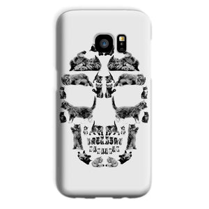 Kitten Skull Black Phone Case Phone kite.ly Galaxy S7 Snap Gloss
