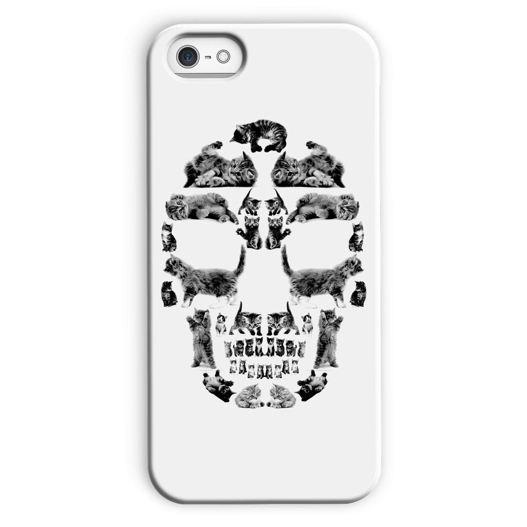 Kitten Skull Black Phone Case Phone kite.ly iPhone 5c Snap Gloss