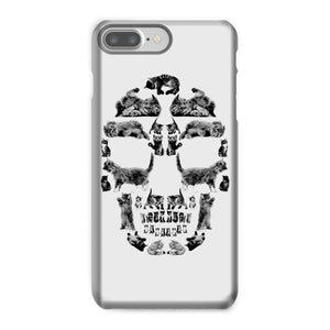 Kitten Skull Black Phone Case Phone kite.ly iPhone 8 Plus Snap Gloss