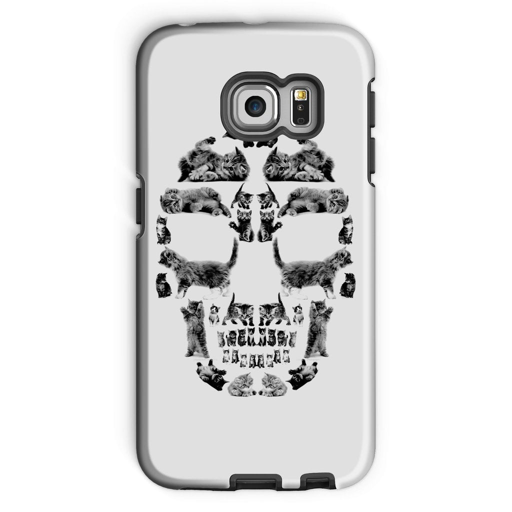 Kitten Skull Black Phone Case Phone kite.ly Galaxy S6 Edge Tough Gloss