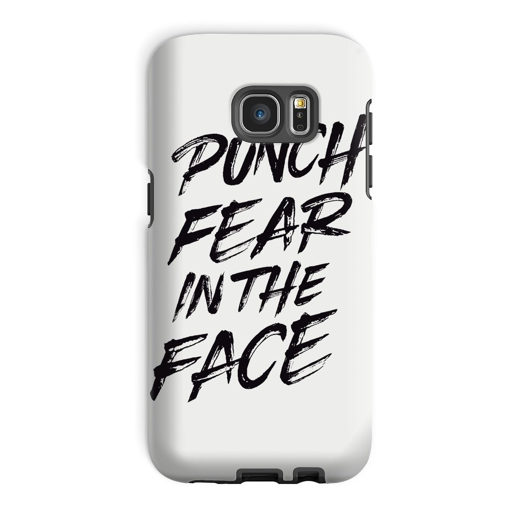 Punch Fear in the Face Black Phone Case Phone kite.ly Galaxy S7 Edge Tough Gloss