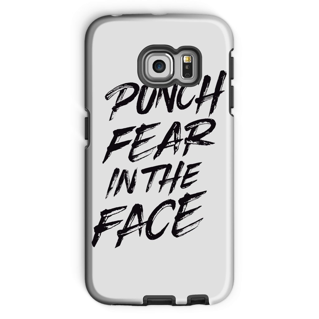 Punch Fear in the Face Black Phone Case Phone kite.ly Galaxy S6 Edge Tough Gloss