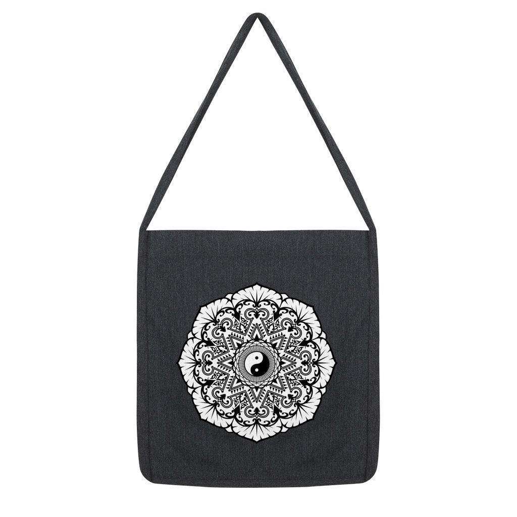 Mandala Tote Bag Bag kite.ly Melange Black