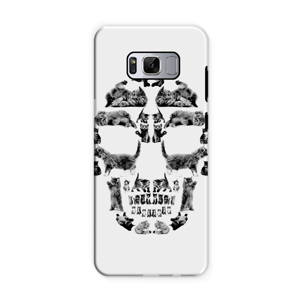 Kitten Skull Black Phone Case Phone kite.ly Samsung S8 Tough Gloss