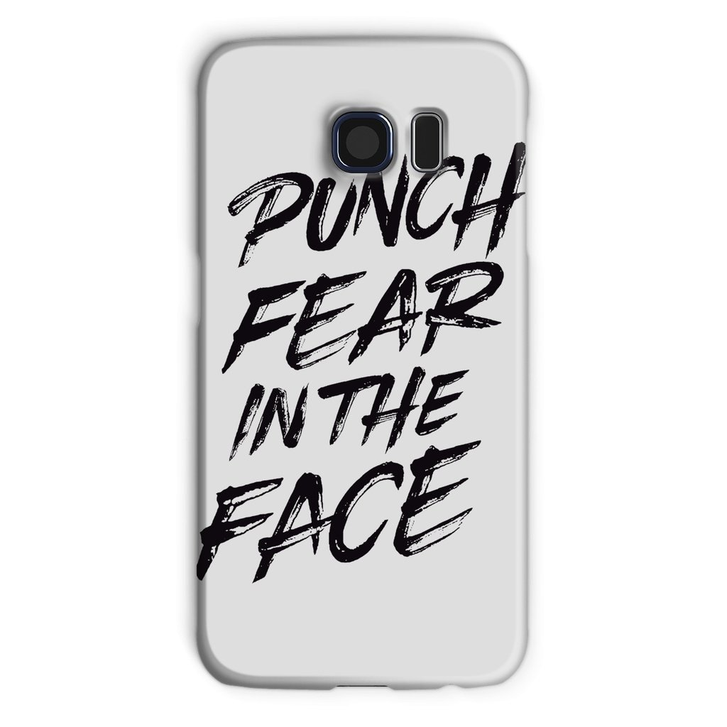 Punch Fear in the Face Black Phone Case Phone kite.ly Galaxy S6 Snap Gloss