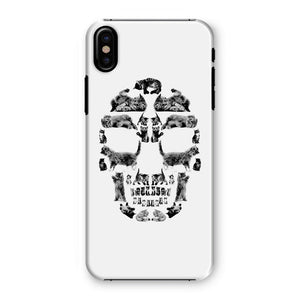 Kitten Skull Black Phone Case Phone kite.ly iPhone XS Snap Gloss