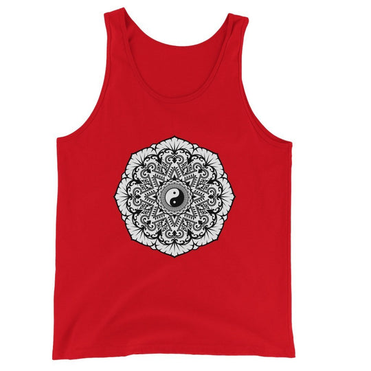 Mandala Unisex Jersey Tank Top Tank Top kite.ly S Red