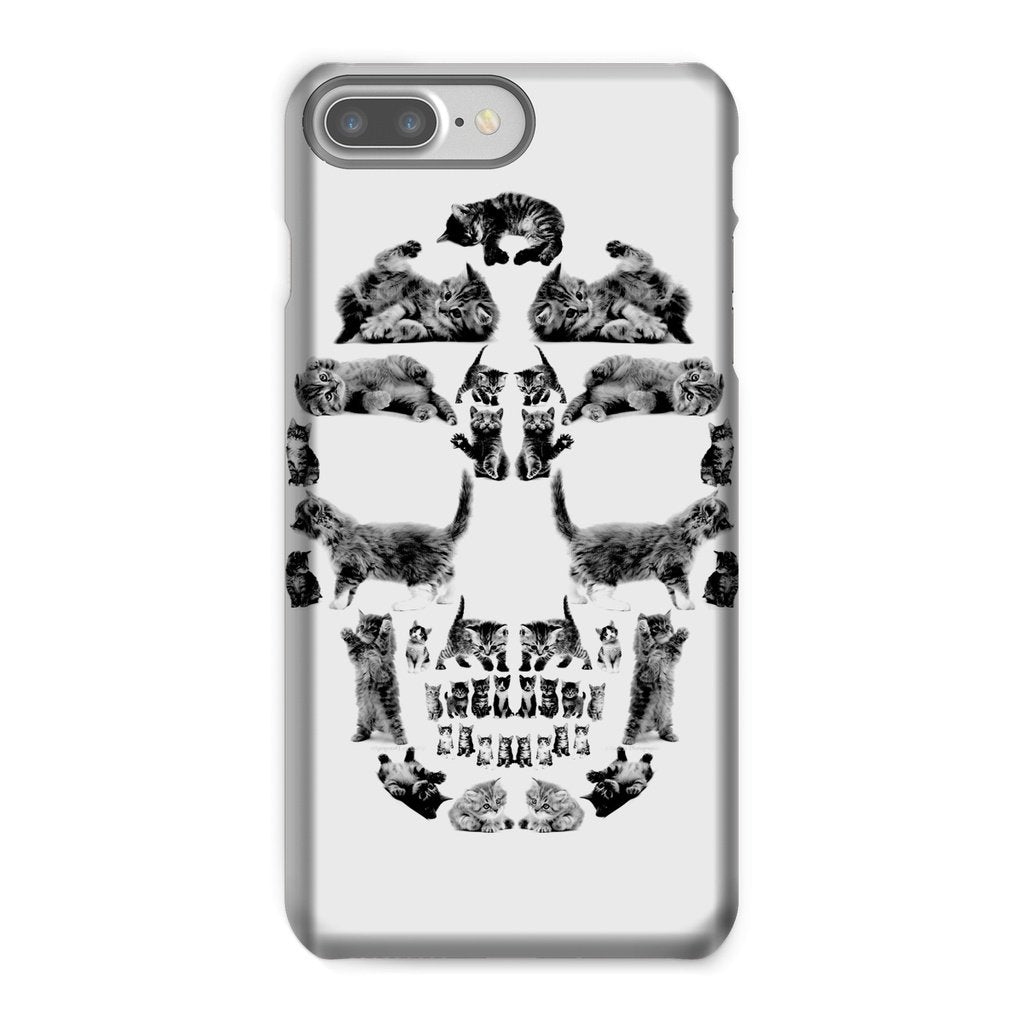 Kitten Skull Black Phone Case Phone kite.ly iPhone 7 Plus Snap Gloss